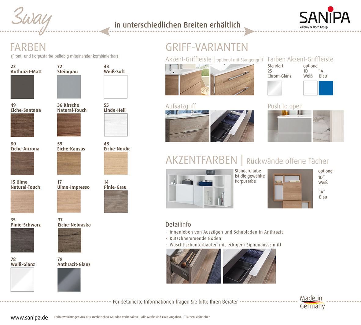 Sanipa Badmöbel 3way